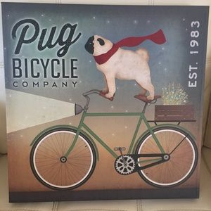 "Ryan Fowler Pug Bicycle Company Wall Art 16""x16"""